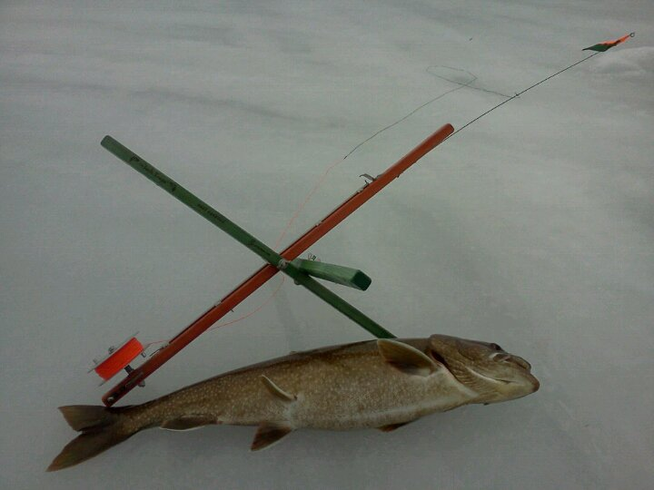 Photos jack traps ice fishing traps and tip ups made for Ice fishing traps