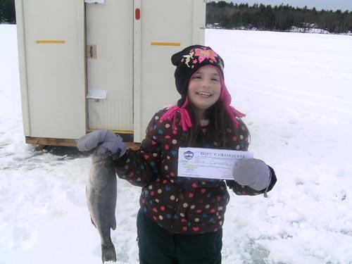 Maria carosella winner of the mdif w lifetime fishing for Lifetime fishing license ca
