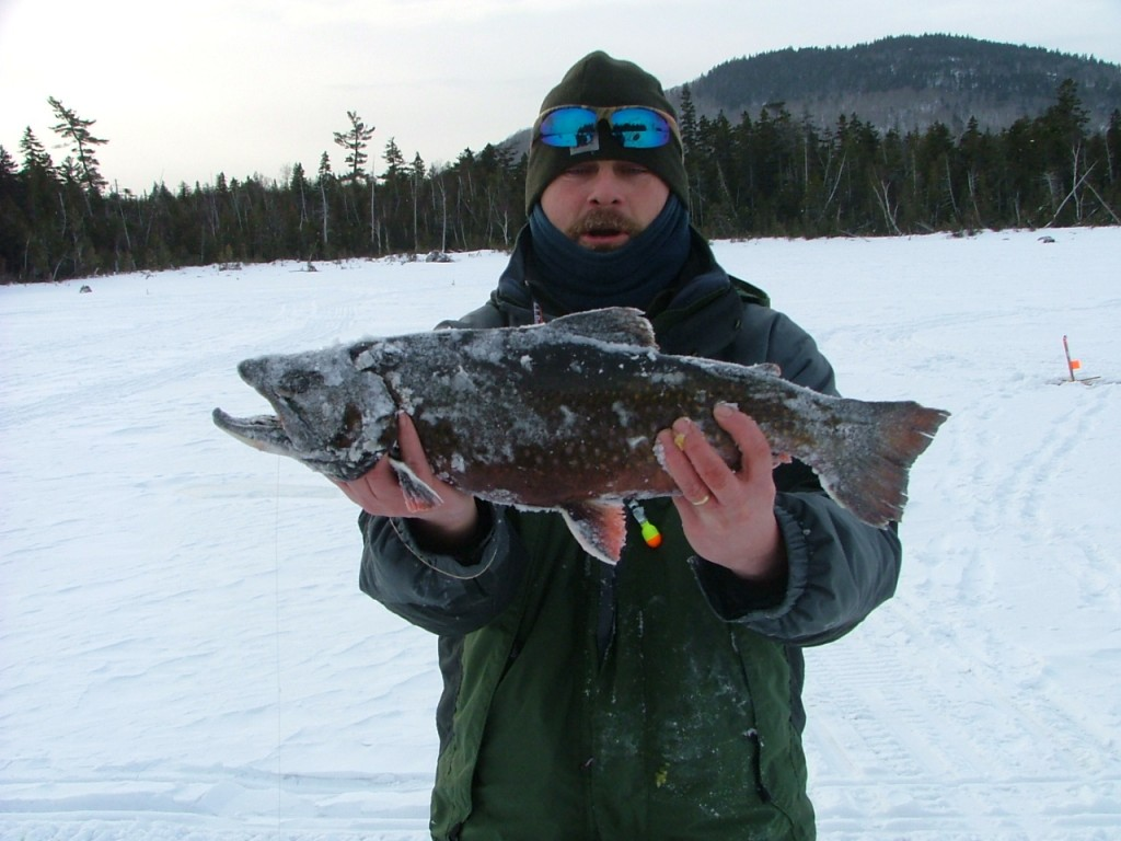 Brook trout jack traps ice fishing traps and tip ups for Maine ice fishing derbies