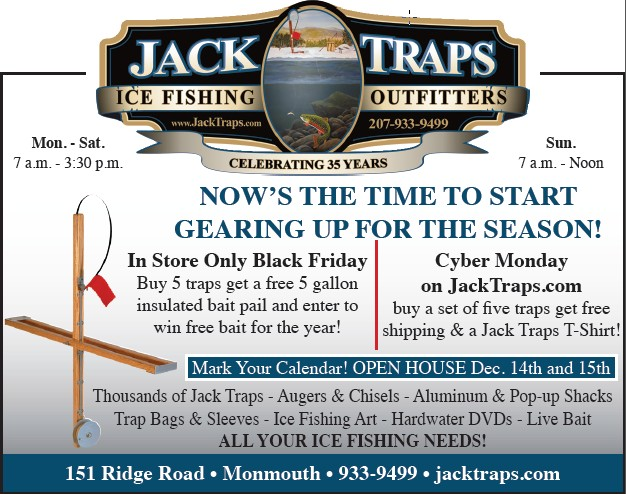Black Friday And Cyber Monday Deals From Jack Traps Jack Traps Ice Fishing Traps And Tip Ups Made In Maine