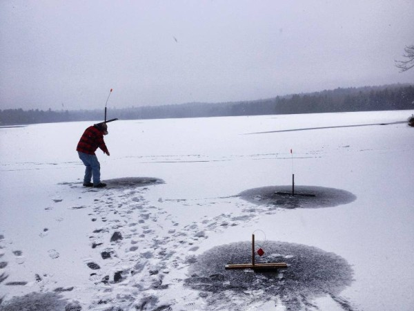 Blog jack traps ice fishing traps and tip ups made in for Ice fishing maine